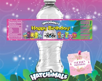 Hatchimals CollEGGtibles Water Labels! Instant Download -Digital File!
