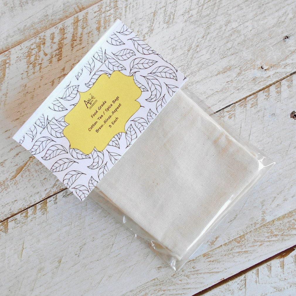 Cotton Tea Bags Food Grade Brewing Tea Unbleached