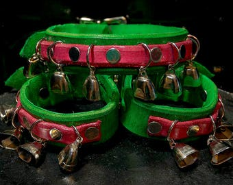 Holiday Bells Collar and Cuffs Set