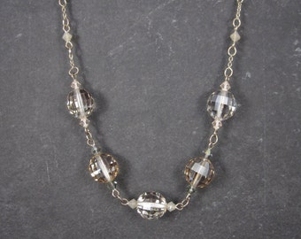 Sterling Necklace With Swarovski Crystals 16 Inches