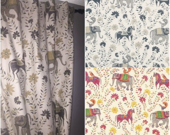 Custom Designer Mahout Drapes You pick the fabric and style - Lined
