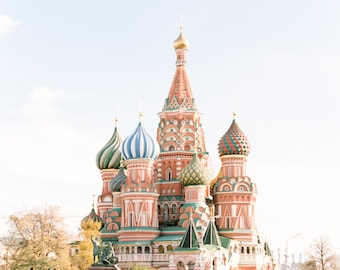 Saint Basil's Cathedral Print Photo captured on 120mm FILM! Moscow, Architecture, Cathedral, Contax 645, Photograph