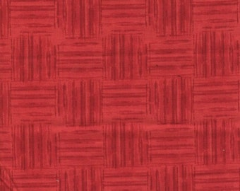 Wilmington Prints, Colors of Freedom, Basket Weave Red fabric, 100% cotton
