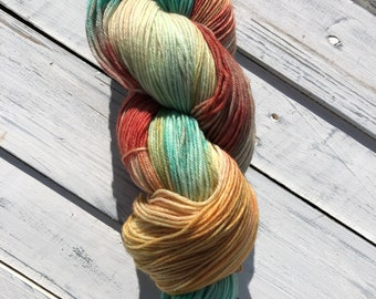 Tropical Punch - Orpington Fingering Sock Hand Dyed Yarn