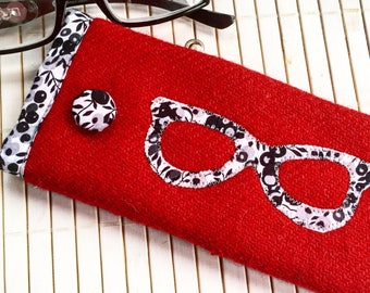 Harris Tweed & Liberty Fabric Spectacle Pouch