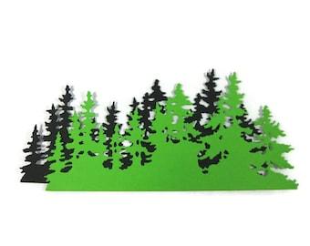 Paper Tree Line Die Cut Set of 6