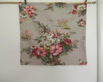 Vintage Barkcloth Pillow Slip 21 x 23