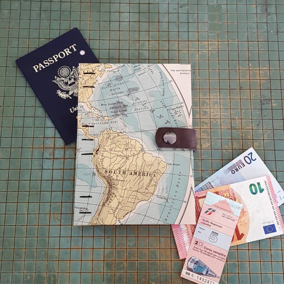 World map travel scrapbook honeymoon or wedding journal like this item gumiabroncs Images