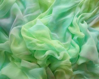 Spring Morning Hand Dyed Silk Gauze Scarf Blank or Yardage
