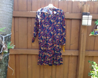 Vintage 1970's 2 Piece Jacket and Dress Ensemble by Debby California - available