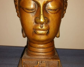Very Beautiful Chinese Brass Buddha Head.
