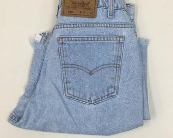 1980 Levis Shorts / Vintage 80s Denim Jean Shorts / Vintage Levis Cutoffs