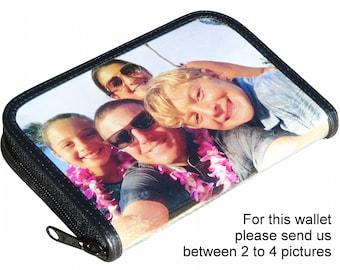 Mittlerer Größe benutzerdefinierte Reißverschlusstasche für Frauen mit Bildern von Ihnen - FREE SHIPPING - angepasst Braut Hochzeit Hochzeitsreise Honig Mond Geschenke