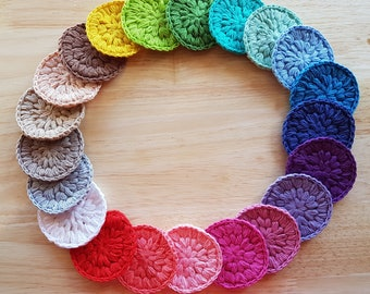 100% Cotton Face Scrubbies -- Natural Turkish Cotton -- Soft Cotton Hand Crocheted Face Scrubbies