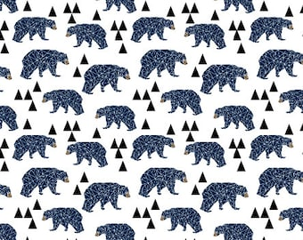 Crib Sheet Geometric Bears Navy. Fitted Crib Sheet. Baby Bedding. Crib Bedding. Minky Crib Sheet. Crib Sheets. Bear Crib Sheet.