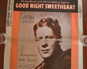 26 Pages Rudy Vallee 1931 Good Night Sweetheart Sheet Music