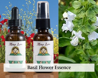 Basil Flower Essence, 1 oz Dropper or Spray for Integrating Sexuality with Spirituality, Healing Harmful Sexual Behavior and Addiction
