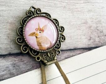 Easter bunny, Bookmark, Unicorn gift, White rabbit, Unicorn for girls, Book Accessory, Easter gift for kids, Easter gift for girl, Pink