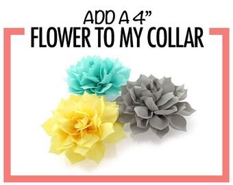 Dog Collar Flower // 4 inch