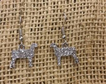 Show Lamb Earrings