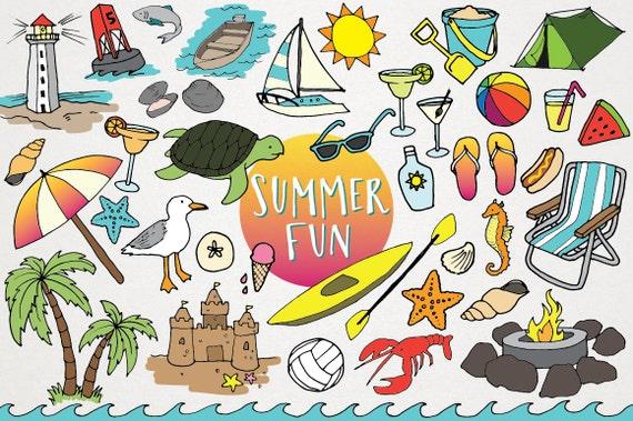 Summer Graphics: Beach Clipart Summer Fun Summer Clip Art Flip