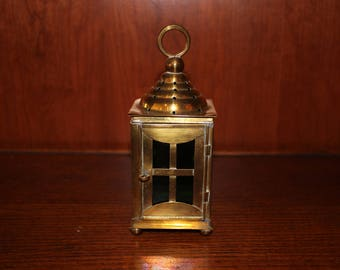Vintage Mini Brass Lantern