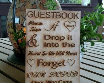 Drop Box Guest Book Sign / Guest Book Sign / Wedding Drop Box Guest Book / Wedding Decor / Wedding Sign / wedding guest book sign /wood sign