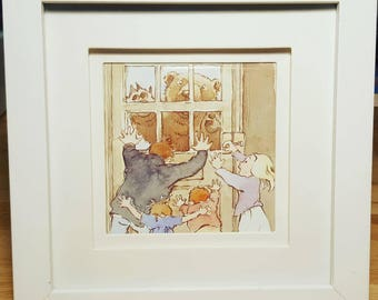 Framed 'We're going on a Bear Hunt' by Helen Oxenbury