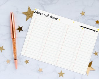 Notes Full Boxes Planner Stickers, To Do Stickers, Full Box Stickers, Vinyl Stickers
