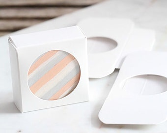 Mini White Favor Boxes, Chocolate Covered Oreo Boxes, Single Macaron Boxes, Mini Candy Boxes, Mini Sweet Boxes, Mini Favor Boxes