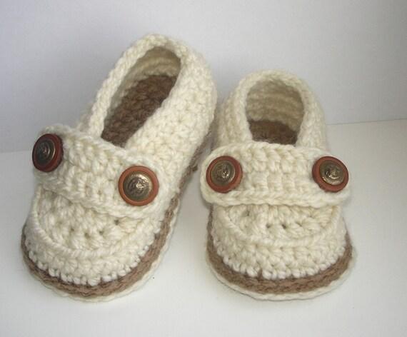 Easy Crochet Pattern Baby Loafers Baby Booties Crochet