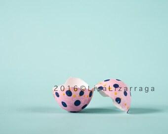 Pink Easter Egg on Teal Digital Composite JPG