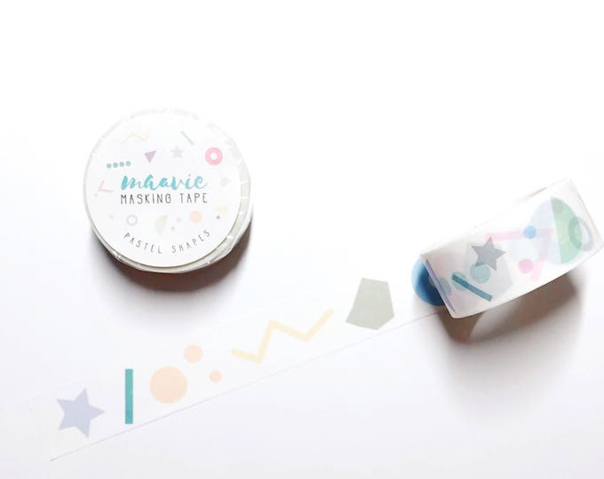 Maavie masking Tape-pastel shapes