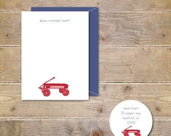 Baby Thank Yous, Baby Shower Thank You Cards, Baby Thank You Cards, Thank You Notes Baby, Wagons, Wagon Cards, Baby Announcement - Wagon
