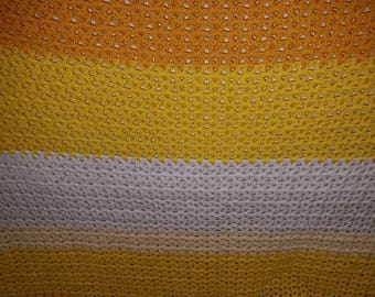 Handmade Crochet Various Colors Baby Blanket / Throw Blanket--Charity Auction
