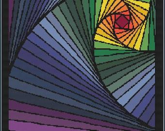 Illusion - Cushion (rainbow palette)