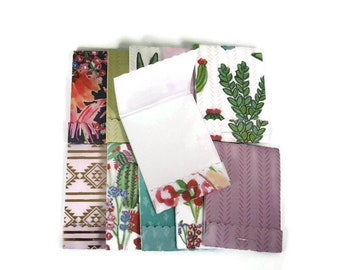 Set of 20 Matchbook Notepads   Party Favor Mini Note Pads in Santa Fe Garden