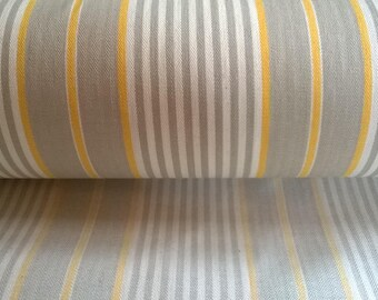 FABRIC mattress yellow taupe and Ecru cotton and polyester