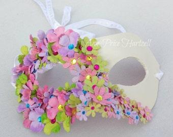 Flower Mask - Half mask of flowers