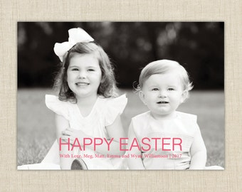 Easter Photo Card. Happy Easter