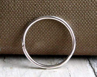 Plain Round Wire Sterling Silver Stacking Ring
