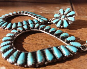 Great earrings from the USA with turquoise handmade