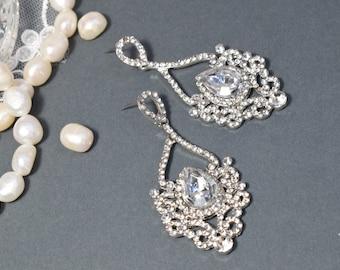 Chandelier Earring, Wedding Earring, Drop Dangle Earring, Wedding Earring, Vintage Long Earring, Bridal Earring