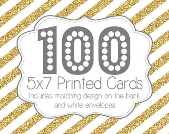 100 PRINTED INVITATIONS and white envelopes