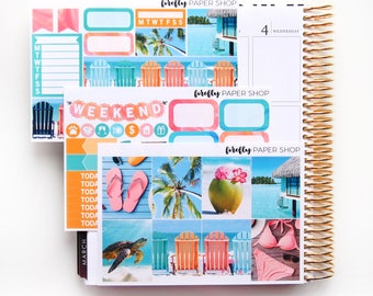 Getaway MINI Weekly Kit (stickers for Erin Condren Life Planner - Vertical)