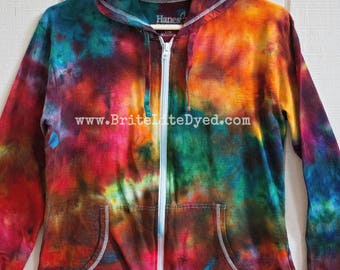 Women's Jacket LARGE - Yoga - Women's Clothes - Women's Jacket - Women's Sweater - Cotton Jacket - Festival - Tye Dye - Tie Dye - Spring
