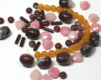 Mixed Jasper Stone Beads, Stone Bead Soup, Beading and Jewelry Making Supplies