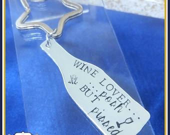 Wine Posh But Pissed Keyring - Wine Lover Keyring - Wine Lover Gift - Wine Gift - Champagne Keyring - Wine Gift - Gift For Wine Drinker