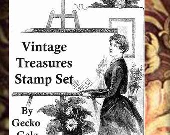 Vintage Treasures Digital Stamp Set