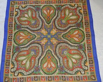 Shawl  wool and  metallic thread